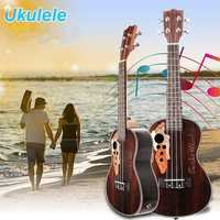 21 Inch Four Strings Rosewood Ukulele Guitar With Grape Shape Holes