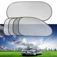 5pcs Car Visor Shield Screen Cover Side Rear Window Sunshine UV Protected Shade Mesh