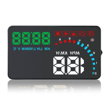 Universal D1000 4 Inch Car HUD Head Up Display OBD2 OBDII Auto Digital Speed Warning