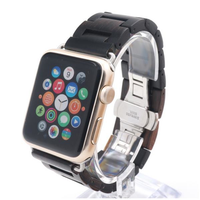Fashion Pure Wood Ultra Thin Watch Band Strap With Adapters For Apple Watch