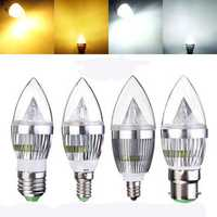 E27 E14 B22 E12 4.5W Dimmable LED Chandelier Candle Light Bulb 220V
