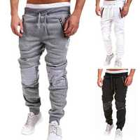 Men Fall Spring Cotton Blend Jogging Trousers Dance Sportwear Baggy Sweatpants