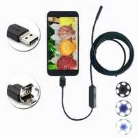 6 LED Waterproof Micro USB Endoscope Inspection Camera Flexible Cord For Mobile Phone