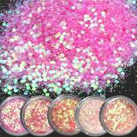 Pink Shining Mixed Glitter Powder Sequins Nail Art Decoration Dust Rose Red Mermaid Effect Ornaments