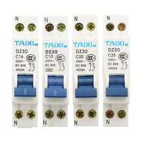 TAIXI® DZ30-32 10A/16A/20A/25A 1P+N Miniature Circuit Breaker DPN Air Switch