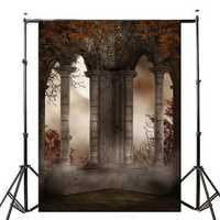 5x7FT Retro Vinyl Terror Castle Studio Photography Background Backdrop Baby Prop