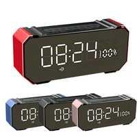GS707 Wireless LED Bluetooth 4.2 Speaker Soundbar Alarm Clock USB TF AUX FM Radio Receiver