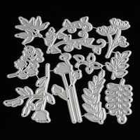10 in 1 Tree Maple Leaf Leaves Cutting Dies DIY Scrapbook Photo Album Hand Craft
