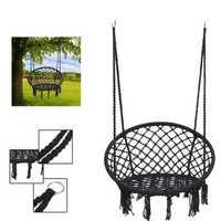 Outdoor Hanging Hammock Woven Rope Chair Seat Indoor Bedroom Children Round Swing Bed