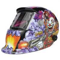 Clown With Submachine Gun Solar Welder Mask Helmet Electric Welding Auto Darkening Welding TIG MIG Welder Mask