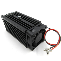 72x32x32mm 12mm Aluminum Heat Sink Groove Cooling Fan Fixed Radiator Seat for 12mm Laser Diode Module