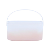 MUID Cosmetic Bag Dressing Case Portable Travel Dresser Cosmetic Mirror Lamp Fixing Makeup Lipstick Skin Care Product Storage Box Basket