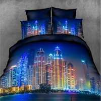 4PCS Bedclothes 3D Elegant Print Bedding Sets Quilt Duvet Covers Pillowcases Decor