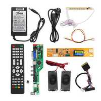 T.RD8503.03 Universal LCD LED TV Controller Driver Board +7 Key button+1ch 6bit 30Pins LVDS Cable+1 Lamp Inverter+Speaker+EU Power Adapter
