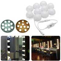 3M Dimmable Hollywood Style Yellow White LED Vanity Mirror Lights for Makeup Dressing Table DC12V