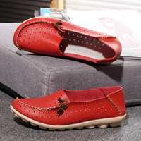 Big Size Women Casual Flat Shoes Slip On Ballerina Flats Hollow Out Flat Loafers