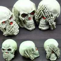 3PCS Halloween Party Resin Skeleton Ghost Decoration Toys Desk Decor