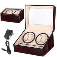 Automatic 4+6 Quad Watch Winder Rotation Display Watch Box
