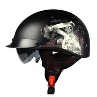 LVCOOL ABS Electric Bicycle Half Face Motorcycle Helmet Retro Electric Motorcar