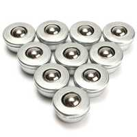 10pcs 8mm Diameter Ball Metal Transfer Bearing Unit Conveyor Roller CY-8H Ball Bearing