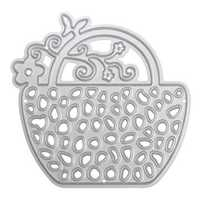 Flower Basket Metal DIY Cutting Dies Stencil Scrapbook Album Paper Card Embossing Craft Gift