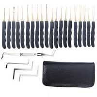 DANIU 24pcs Single Hook Lock Pick Set Locksmith Tools Lock Pick Kit