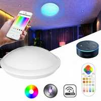 ARILUX 30W RGBCCT Wifi Smart LED Ceiling Light Remote and APP Voice Control Chandelier for Alexa