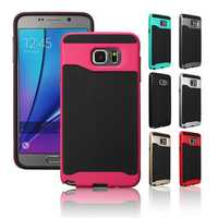 2 in 1 Hybrid TPU+PC Frame Tough Case Cover Bumper Skin For Samsung Galaxy Note5