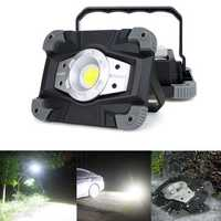 Portable USB COB LED Camping Lantern Lamp Outdoor Work Light Flashlight Waterproof Spotlight