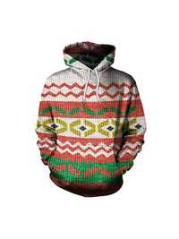Casual Women Christmas Costume Geometric Printed Sweatshirts