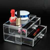 Acrylic Clear Makeup Drawers Cosmetic Organiser Jewelry Box Holder Storage Case