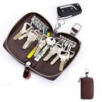 Men Women Genuine Leather Pure Car Key Holder Key Bag