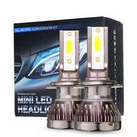 80W Mini Car LED Headlights Bulbs H1 H4 H7 H8 9005 9006 9012 Fog Lamp DC 9-32V 10000LM White