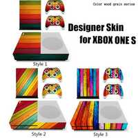 Designer Skin for XBOX ONE S Gaming Console + 2 Controller Sticker Decal