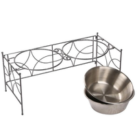 Stainless Steel Pet Bowl for Food and Water Bowls Pet Feeders Double Bowls Set S M L Sizes