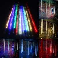 10 X 50CM LED Meteor Shower Rain Lights Waterproof Tubes String For Xmas AC85-265V