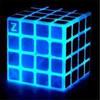 Classic Magic Cube Toys 4x4x4 PVC Sticker Block Puzzle Speed Cube Dark Luminous