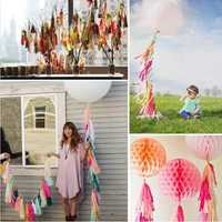 14 Inch Tissue Paper Tassel Garland Birthdays Party Decorations Event Gift Pack Balloon Accessoriess