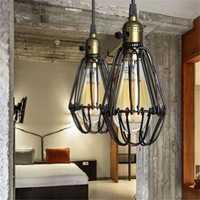 Industrial Retro Vintage Kitchen Bar Shop Black Pendant Light Ceiling Hanging Lampshade Fixture