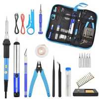 60W 110V/220V Power Switch Adjustable Temperature Electric Soldering Iron Tools Kit Welding Station