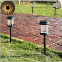 Warm White Light Waterproof LED Solar Lights Lawn Lamp for Outdoor Landscape Yard Deck Pathway