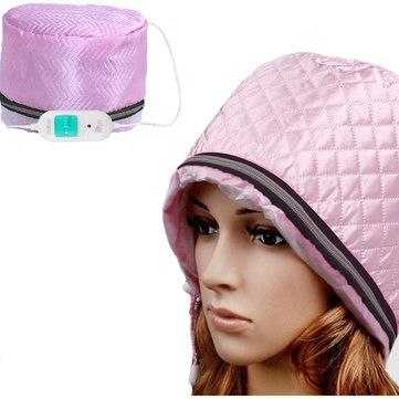 220V Electric Hair Thermal Treatment Beauty Steamer SPA Nourishing Conditioner Hair Care Cap