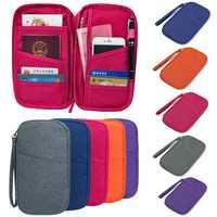 Waterproof Pen Pencil Phone Travel Passport ID Credit Card Ticket Wallet Purse Makeup Zipper Storage Holder Bag Case