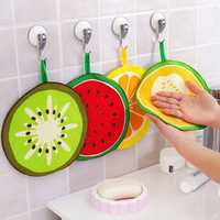 Honana Fruit Pattern Towel Absorbent Cloth Kitchen Towel Handkerchief Quick-Dry Cleaning Rag Dish Cloth Wiping Napkin