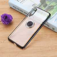 Bakeey Ring Holder Color Plating Hard PC Protective Case For Xiaomi Mi9/ Mi 9 Transparent Edition