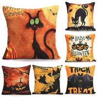 45cmx45cm 6 Pattern Halloween Fashion Cotton Linen Pillow Case Home Sofa Cushion Decor