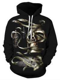 Halloween Women Skull Printed Hooded Sweatshirts