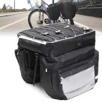 BIKIGHT Nylon 68L Bike Luggage Bag Big Capacity Durable Cycling MTB Pannier Rear Rack Trunk Motorcycle E-bike Bag