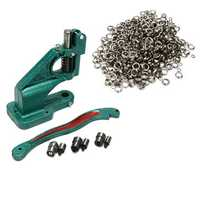 1500pcs Grommets Eyelet Press Presser Punches Tool Grommet Machine 3 Die (#0 #2 #4)