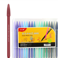 24 Color Gel Pens Hand Account Hook Line Pen Stationery Office School Supplies Drawing Graffiti
